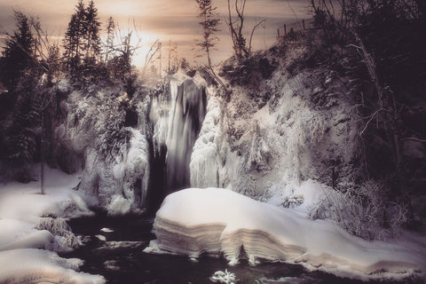 Spearfish Falls In Winter