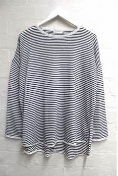 Chloe Stripe Basic Knit - Black & White