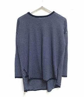 Chloe Stripe Basic Knit - Navy & White