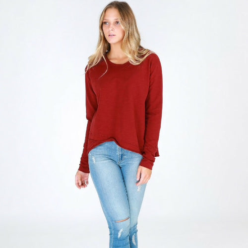Flinders Sweater - Burgundy