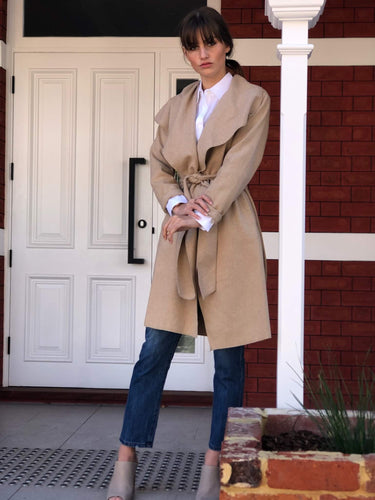 Winona Waterfall Wool Blend Coat