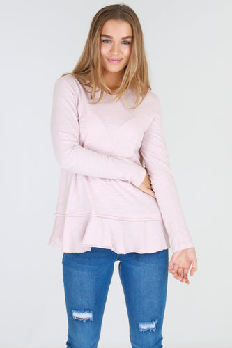 Orchid Tee - Blush Marle