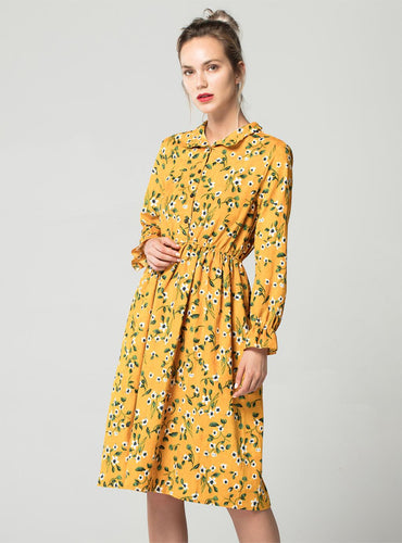 Helena Corduroy Printed Dress