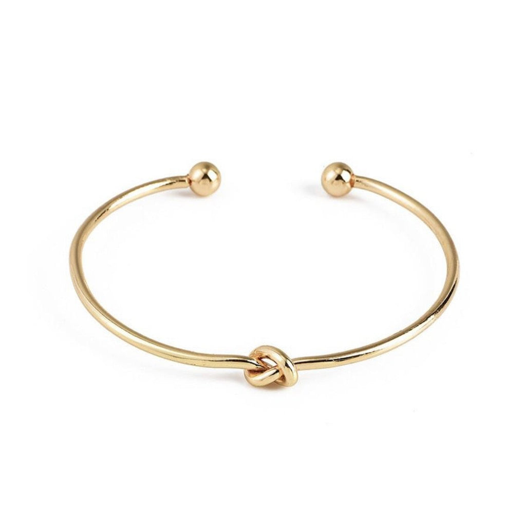 Simple Knot Gold Plated Cuff