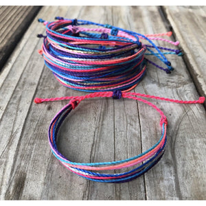 Neon Cotton Candy Bracelet