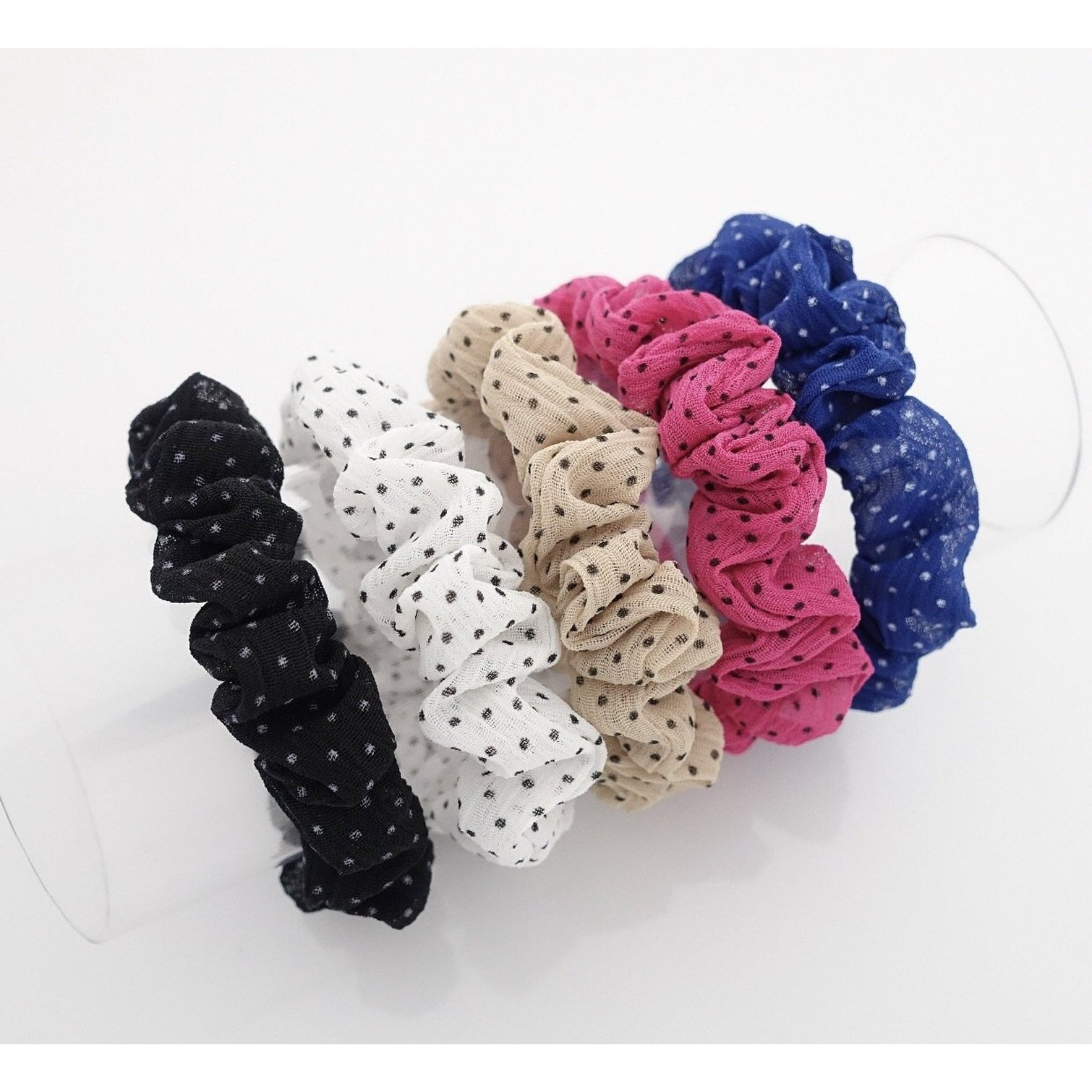 Polka Dot Mini Scrunchies 3-Pack