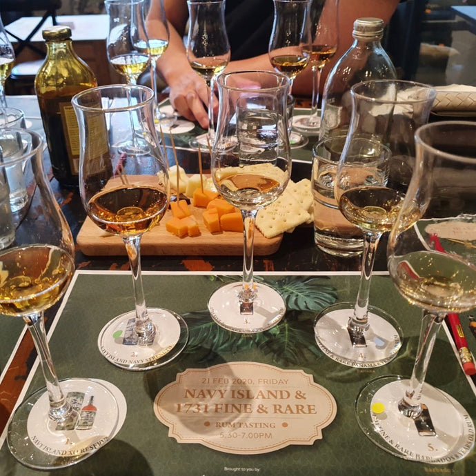 Navy Island / 1731 (Fine&Rare) Tasting at Straits Wine Company (21 Feb 2020)