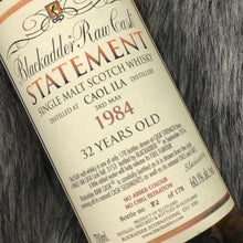 Load image into Gallery viewer, Blackadder Statement No 23 Raw Cask Caol Ila 32YO 1984