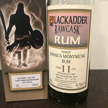Load image into Gallery viewer, Blackadder Raw Cask Finest Jamaica Monymusk Rum 11YO 2007