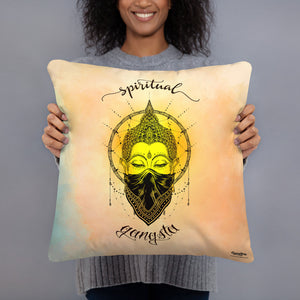 Spiritual Gangsta Throw Pillow