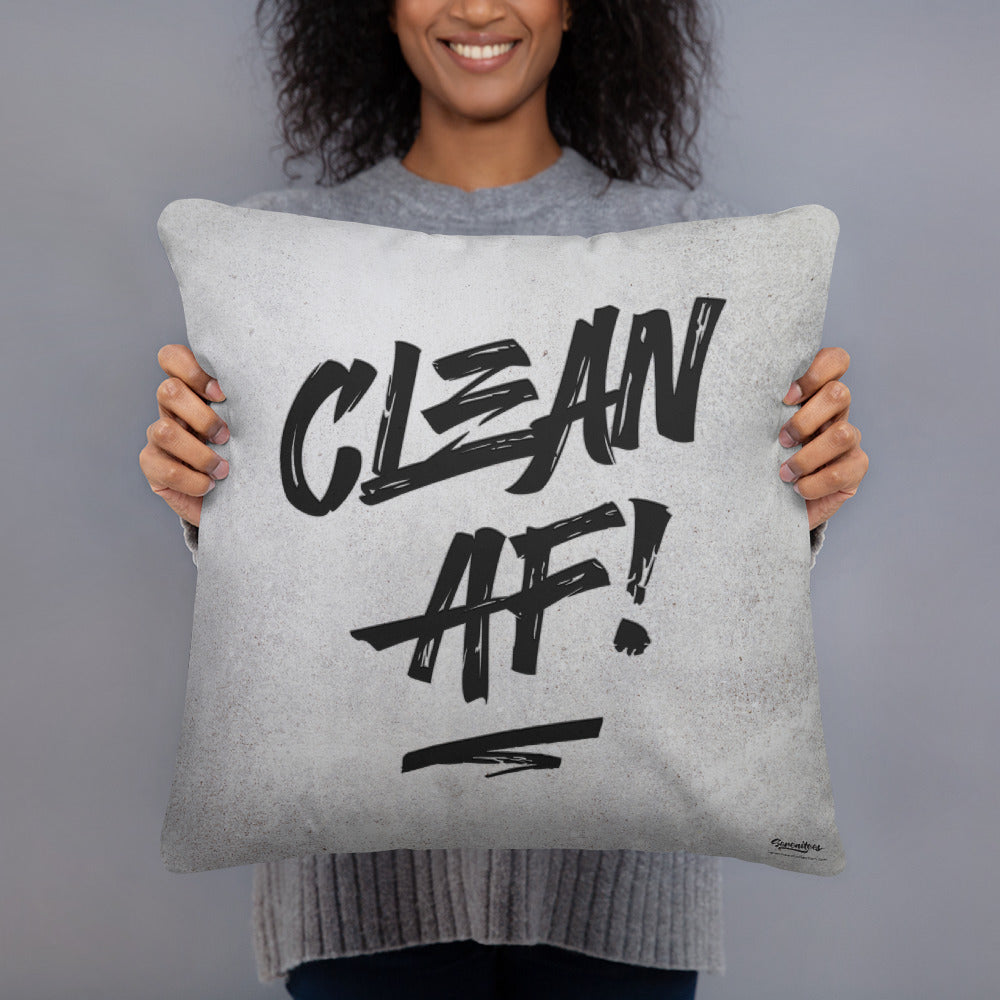 Clean AF! Throw Pillow