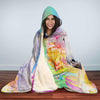 Image of Unicorn Floral Hooded Blanket