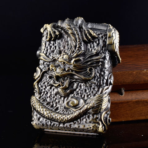 Vintage Dragon Gasoline Lighter