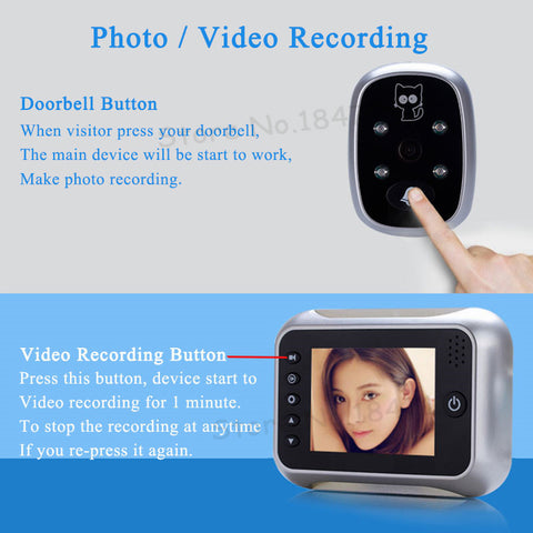 "3.5"" Video Door Viewer"