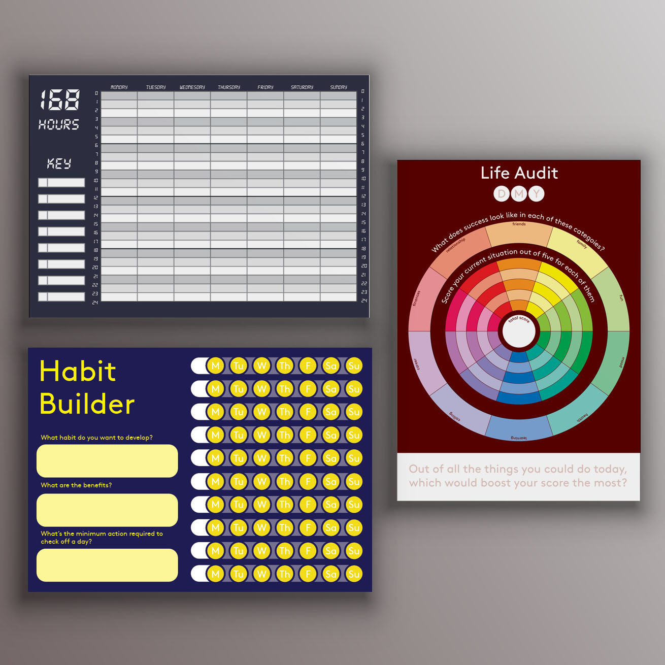 Life Tracker (three A6 notepads)