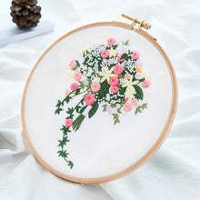 Load image into Gallery viewer, Chinese Floral Embroidery kits with or without Hoop