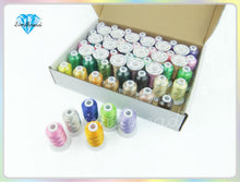 Load image into Gallery viewer, Rayon Embroidery Thread Simthread 58 Colors  500M/Spool + 10pcs
