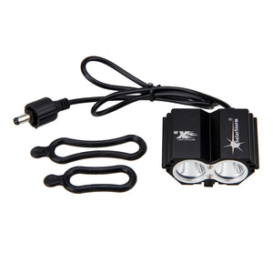 Front Bicycle Lamp Bike Headlight Headlamp with 18650 Battery and Charger
