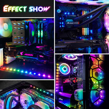 Load image into Gallery viewer, Led Light Strip for PC,ASUS Aura SYNC RGB 3 pin 5V ADD Header on Motherboard, MSI Mystic Light SYNC