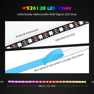 Led Light Strip for PC,ASUS Aura SYNC RGB 3 pin 5V ADD Header on Motherboard, MSI Mystic Light SYNC