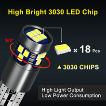 Load image into Gallery viewer, LED 194 168 T10 W5W 800 lumen 18LED 3030 LED Chips Lamp Auto Bulb 12V