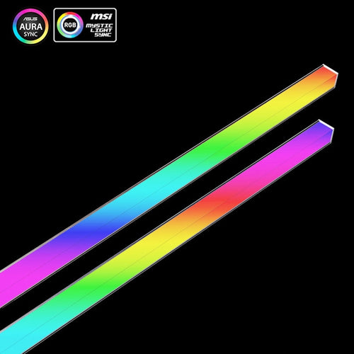 AURA Multi-color 12V/4PIN Aluminum Breathing Light Strip Magnetic RGB LED