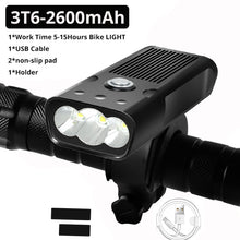 Load image into Gallery viewer, LED Bicycle Light L2/T6 USB Rechargeable Power Bank 3 Modes