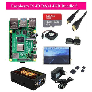 Raspberry Pi 4 Model B Development Board Kit RAM 1G/2G/4G 4 Core CPU 1.5Ghz