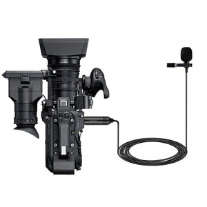 Lavalier Microphone Omni-directional Condenser  Clip on Lapel Mic for Camera Camcorders