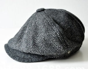 HERRINGBONE TWEED GATSBY Style Newsboy Cap for Men Great winter Cap