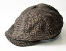 Load image into Gallery viewer, HERRINGBONE TWEED GATSBY Style Newsboy Cap for Men Great winter Cap
