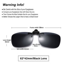 Load image into Gallery viewer, Clip On Sunglasses Polarized Driving Glasses Night Vision or for Fishing and Cycling