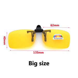 Clip On Sunglasses Polarized Driving Glasses Night Vision or for Fishing and Cycling