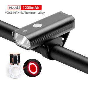 Headlamp and light combos For Bicycle USB Rechargeable 400 Lumen