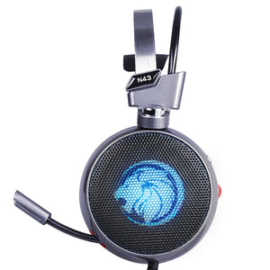 Stereo Gaming Headset 7.1 Virtual Surround Bass with Mic LED Light