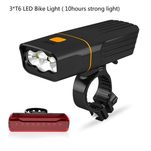 Bike Front 15000 lumen lamp & Rear Light USB Rechargeable plus Taillight