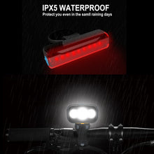 Load image into Gallery viewer, Bike Front 15000 lumen lamp & Rear Light USB Rechargeable plus Taillight