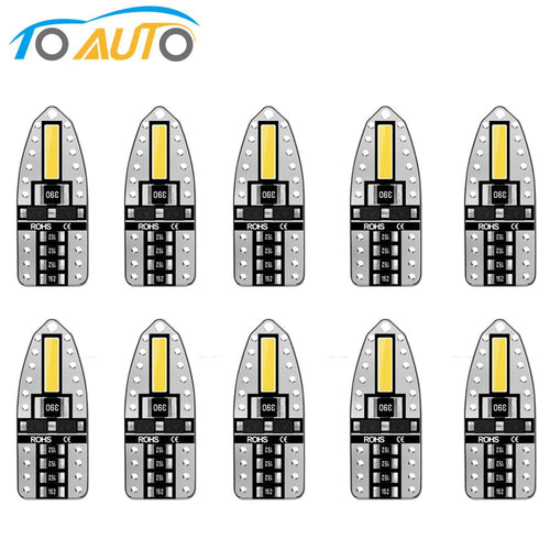 10pcs T10 LED Lamp 400 LM/W W5W 194 168 LED Bulbs Super Bright Side License Plate Lights DC 12V