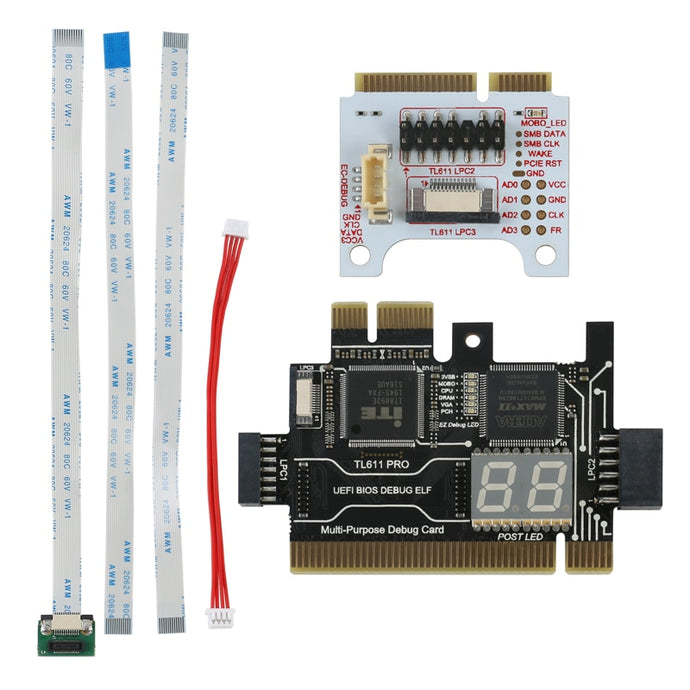 TL611 Pro Universal Laptop And PC PCI PCI-E Mini PCI-E LPC Motherboard Diagnostic Analyzer Tester Debug Cards Upgraded TL460S