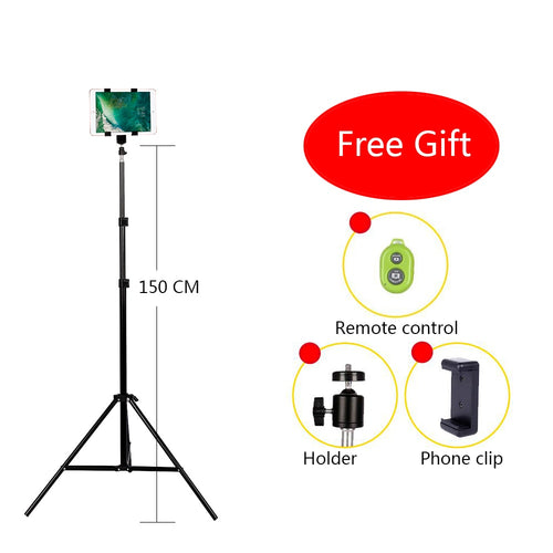 Aluminum DV Tripod Digital Camera Webcam Phone Metal Stand With Bluetooth remote control