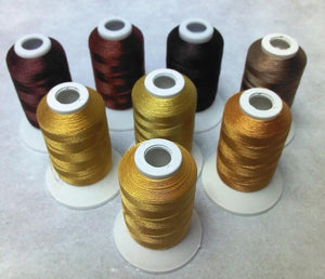 """Color"" Series  Polyester Machine Embroidery Thread (8 Spools)"