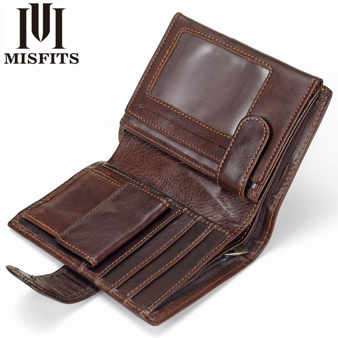 Vintage Men's Wallet Genuine Leather Short Wallets
