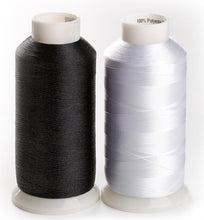 Load image into Gallery viewer, 60WT bobbin fill with 10000m, Polyester embroidery bottom thread white or black