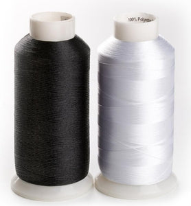 60WT bobbin fill with 10000m, Polyester embroidery bottom thread white or black
