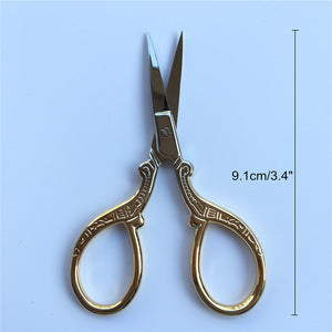 Hot Vintage Scissors Sewing and Embroidery Scissors 1 Pcs/set 9 Styles Tailor's Scissors