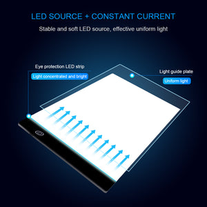 A4 LED Light Pad Tracing Digital Drawing Tablet Copy Board Painting