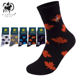 Awesome Maple Leaf Cotton socks for men 5 pairs breathable