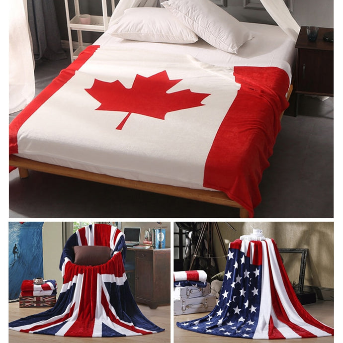 Canada USA UK Multifunction Blanket Sofa Cover Bedsheet Throws 150x200