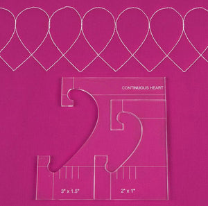 Ruler border sampler template set for sewing machine 1 set =4pcs