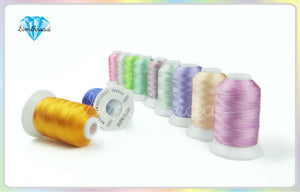 Rayon Embroidery Thread Simthread 58 Colors  500M/Spool + 10pcs